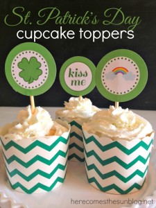 St. Patrick's Day Cupcake Toppers