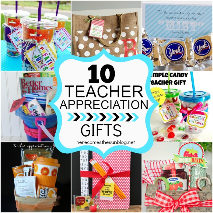 10 Easy Teacher Appreciation Gifts