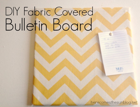 Create this easy Fabric Covered Bulletin Board for your home office!