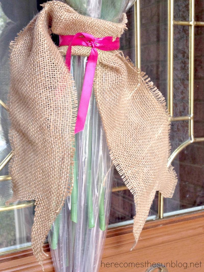 umbrella wreath ribbon