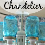 Turn your existing light fixture into this amazing Mason Jar Chandelier in just a few easy steps!