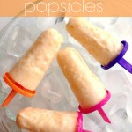 Peaches and Cream Popsicles are the perfect traet for a hot summer day!