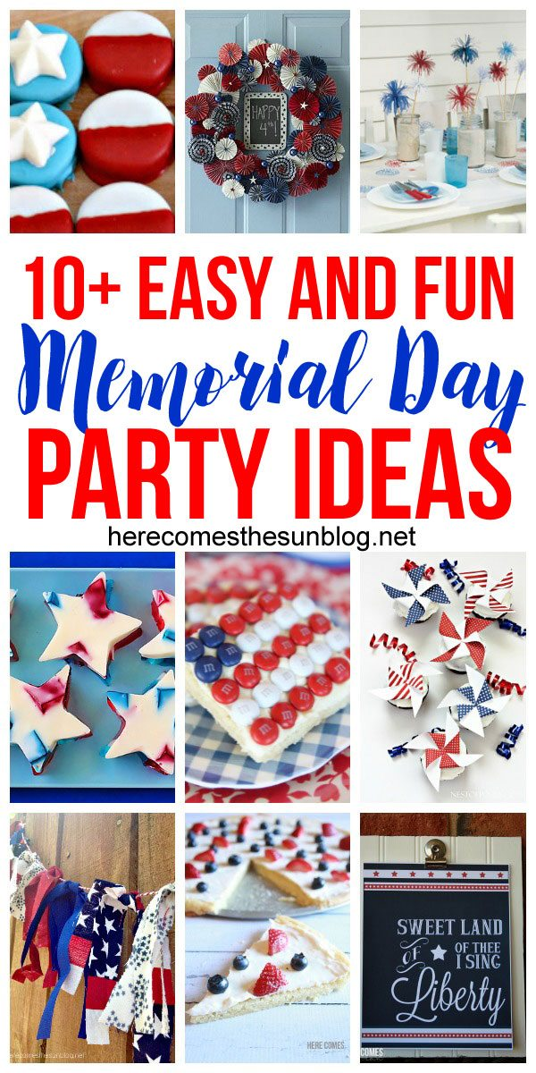 These Memorial Day Party ideas are easy and fun to put together!