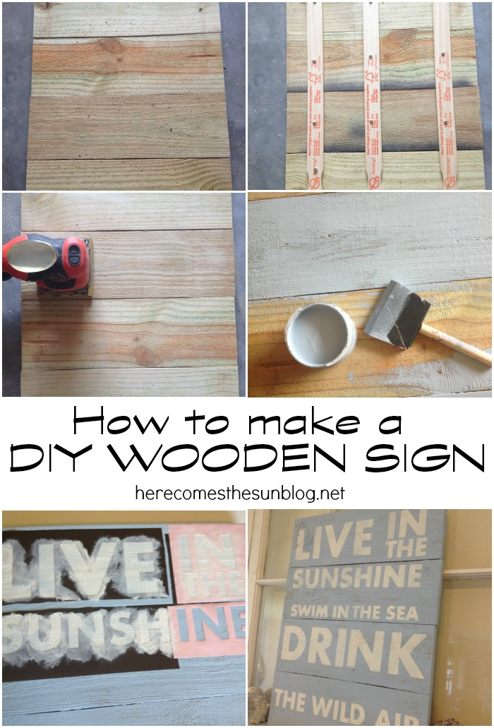 Make a DIY Wooden Sign with this easy tutorial.