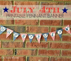 July 4th Printable Pennant Banner