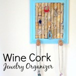 DIY Wine Cork Jewelry Organizer