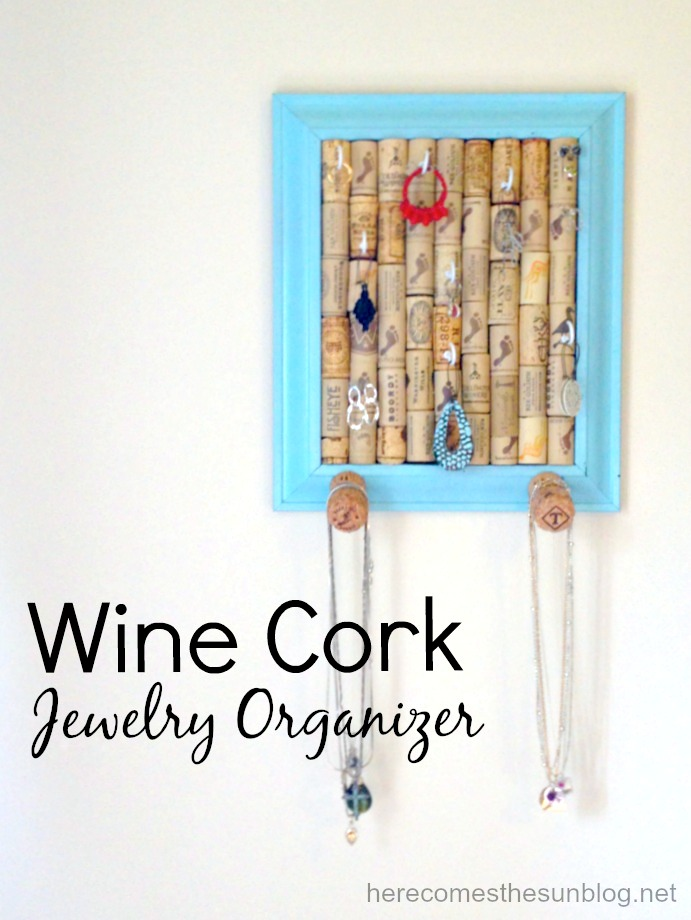 Wine cork jewelry organizer here comes the sun diy wine cork jewelry organizer solutioingenieria Choice Image