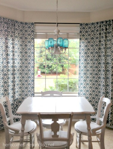 Diy Bay Window Curtain Rod Here Comes The Sun