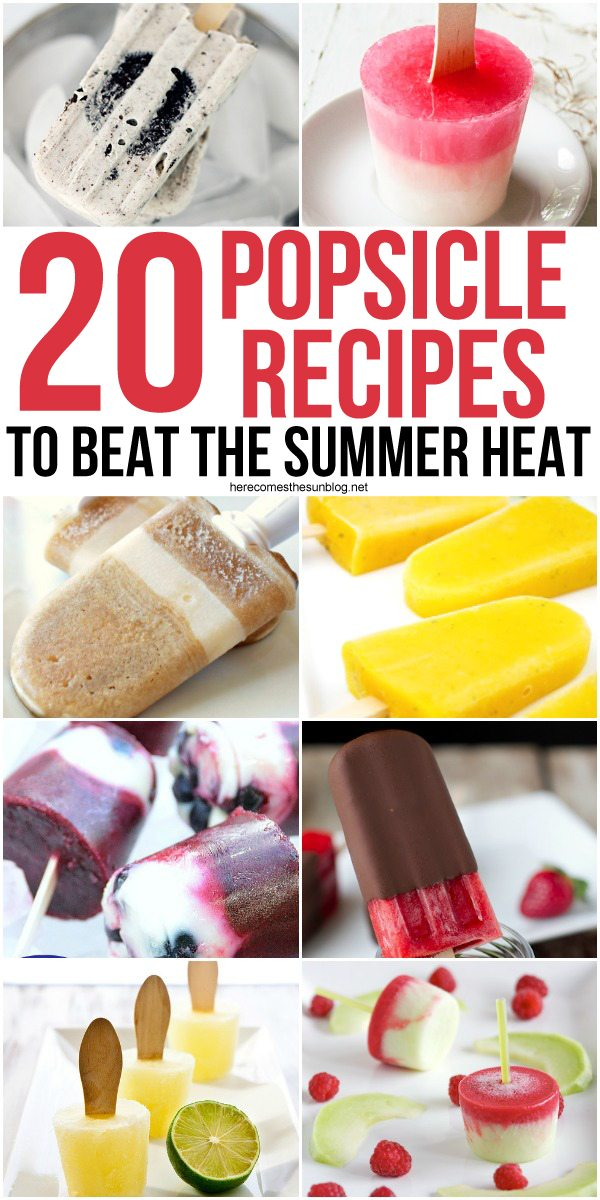 These popsicle recipes are easy to make and delicious to east! All you need are a few simple ingredients and you have a great summer treat. Make one today!