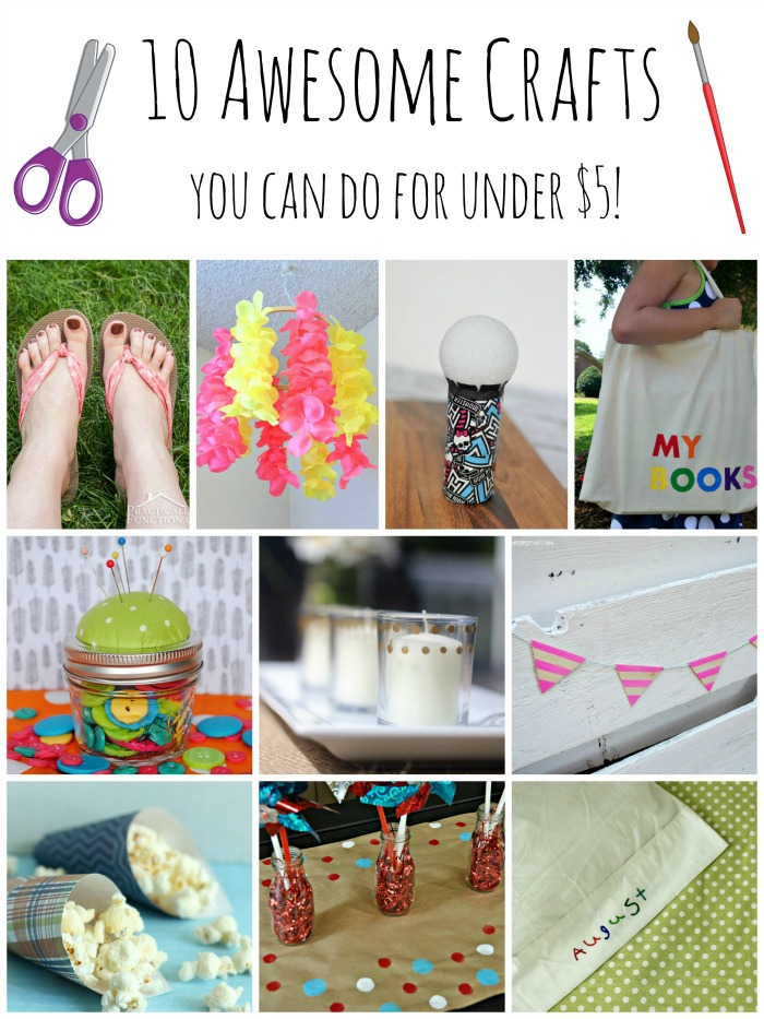 10 Crafts You Can Do for Under $5!