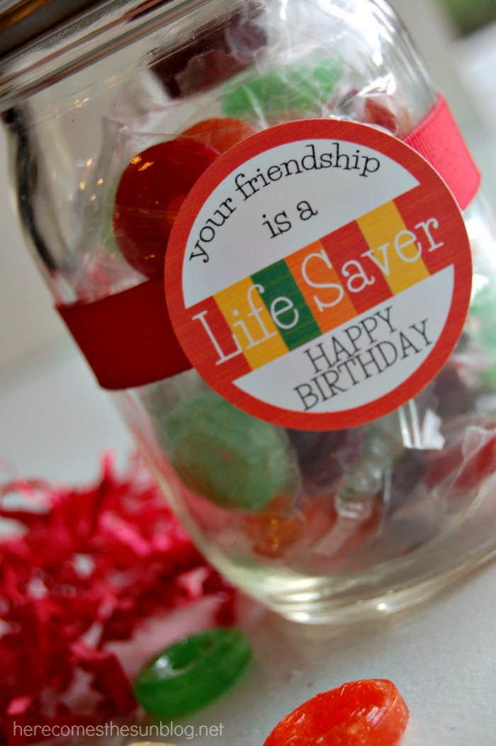 lifsaver gift in a jar