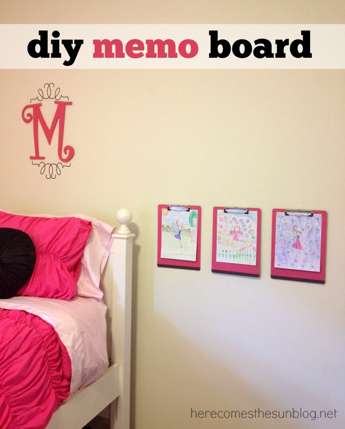 Create this colorful memo board to match any decor!