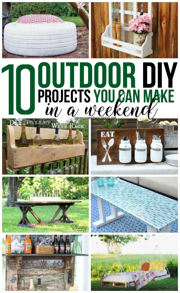 These outdoor  projects will add tons of interest to your yard and can all be made in one weekend!