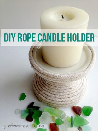 DIY Rope Candle Holder final