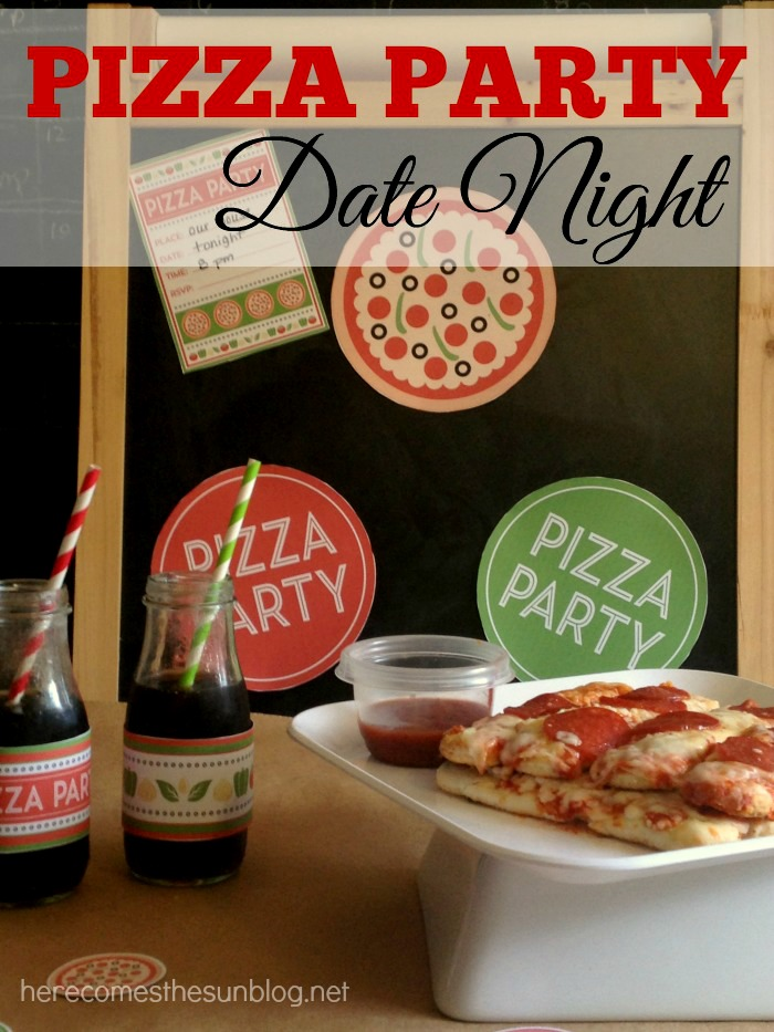 This Pizza Party Date Night is a great way to enjoy a fun night in! #FoodMadeSimple #shop
