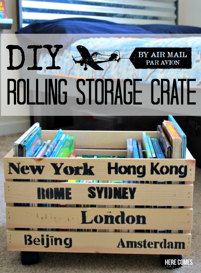 Create extra storage with this DIY Rolling Storage Crate tutorial!