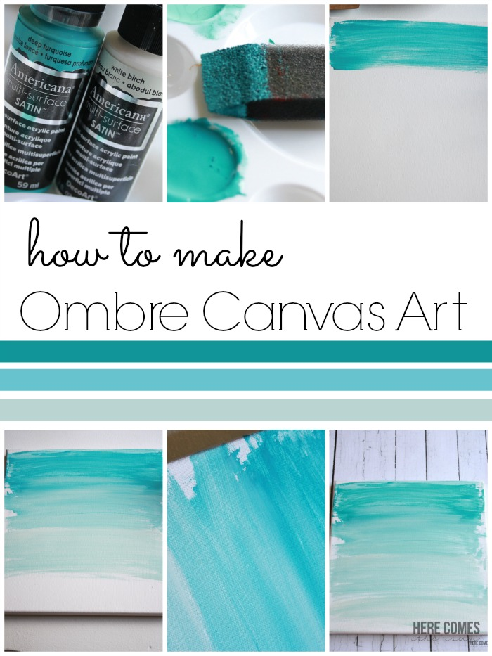 Ombre canvas art here comes the sun for How to make canvas painting