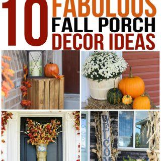 10 Fabulous Fall Porch Decor Ideas