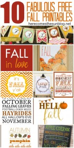 10 Fabulous Free #Fall #Printables! Print these out for easy home decor!