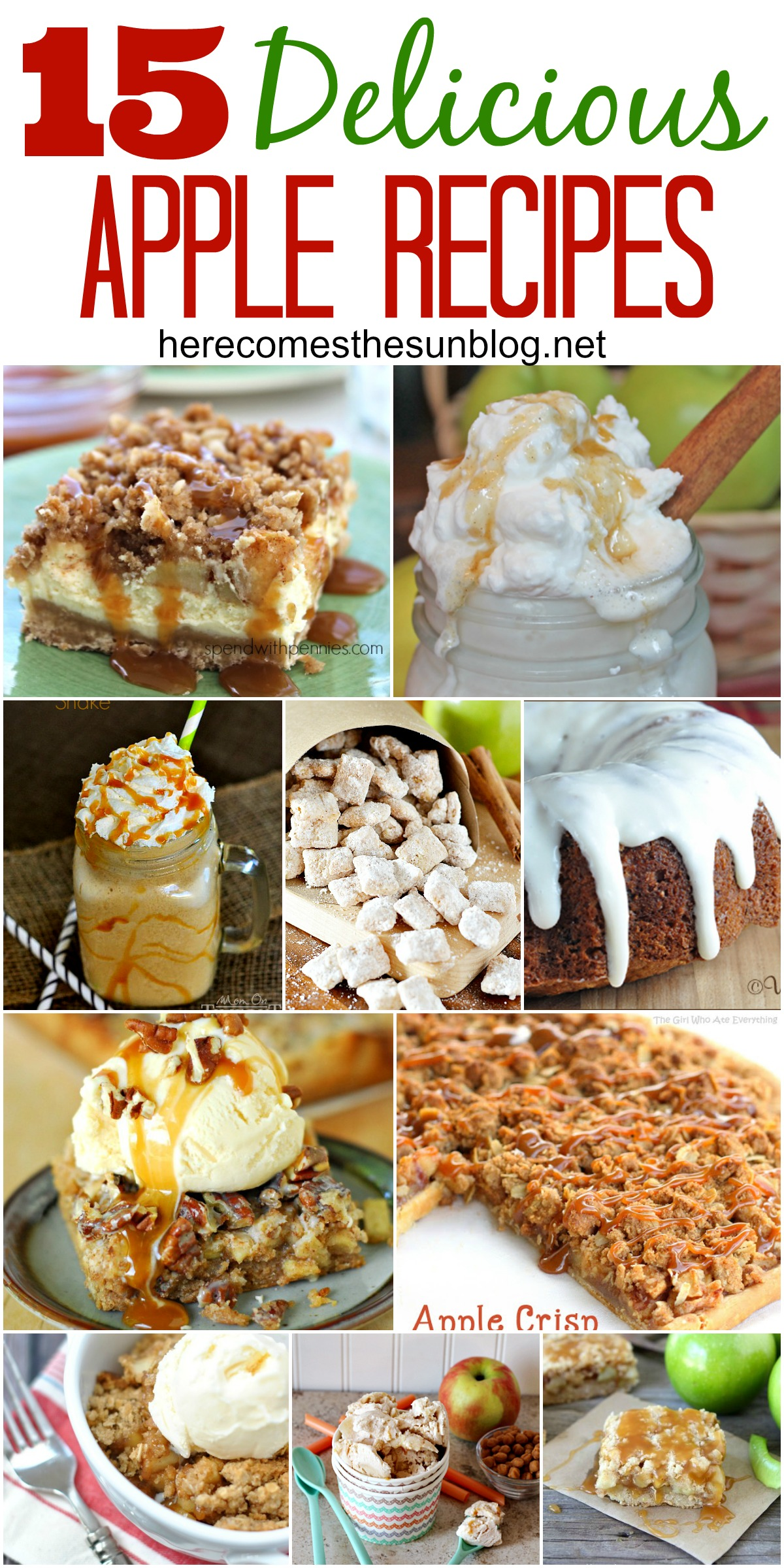 15 Delicious Apple Recipes for Fall!