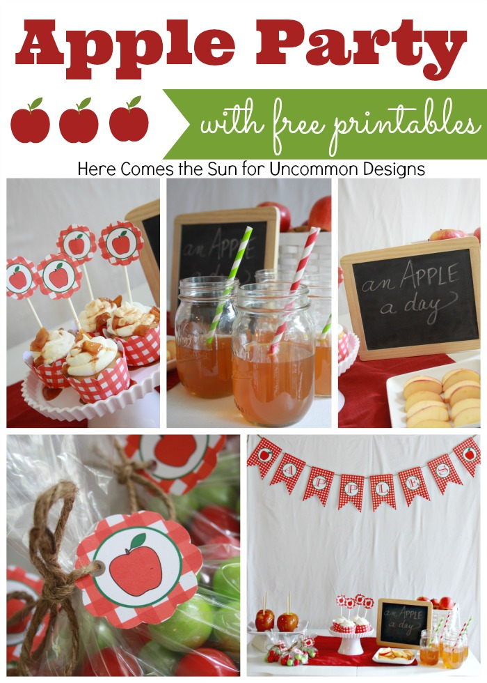 Apple-party-collage