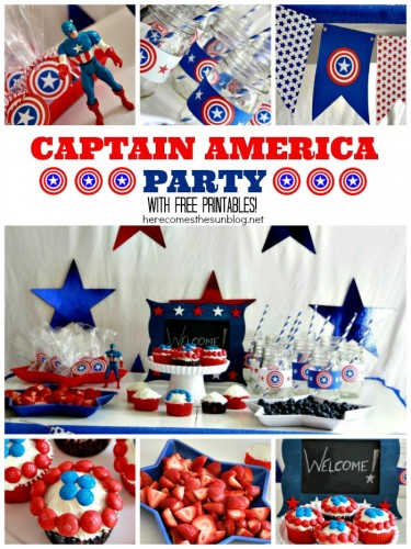 Captain-America-Party-Collage