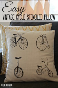 Easy-vintage-cycle-stenciled-pillow