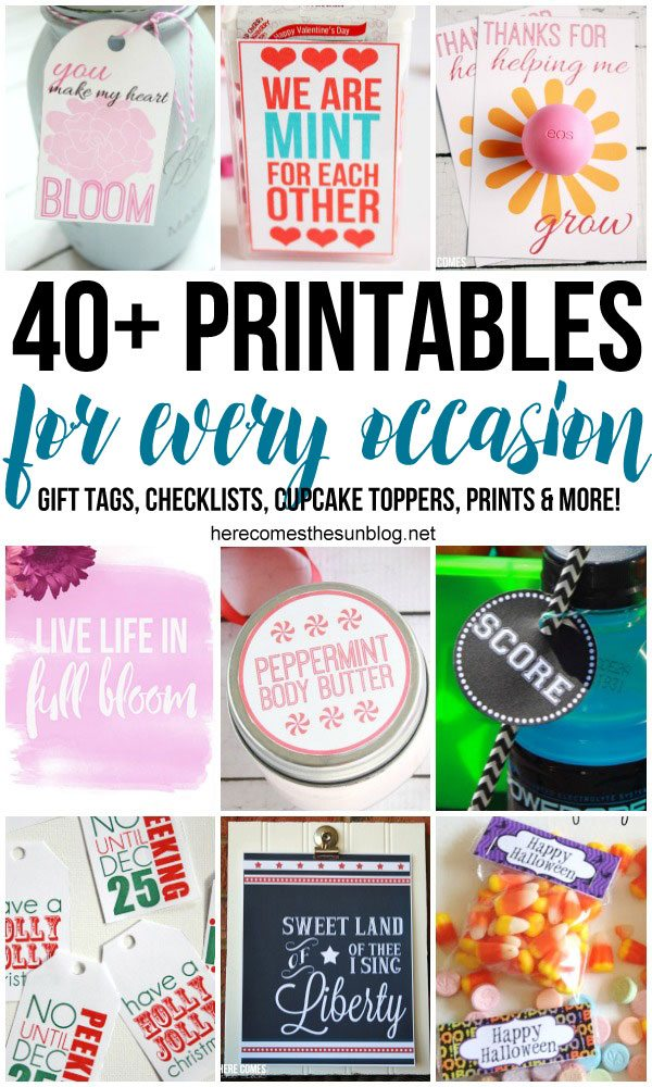Printables for every occassion