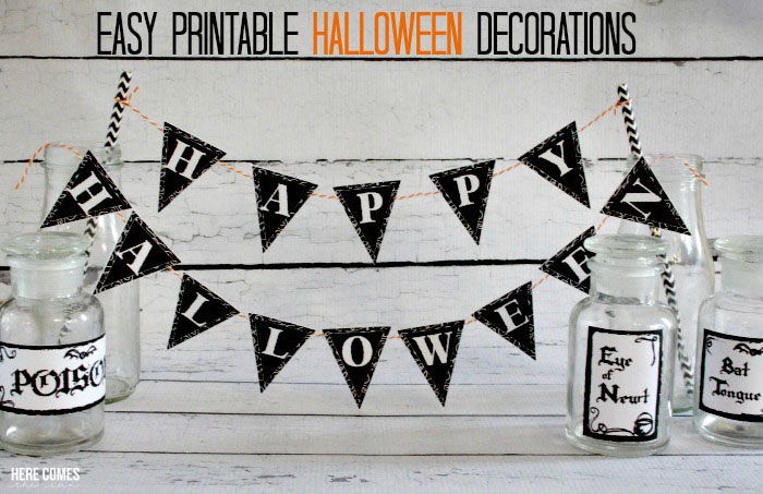 Printable Halloween Decorations For A Haunted Dollhouse - Printable Halloween Decorations