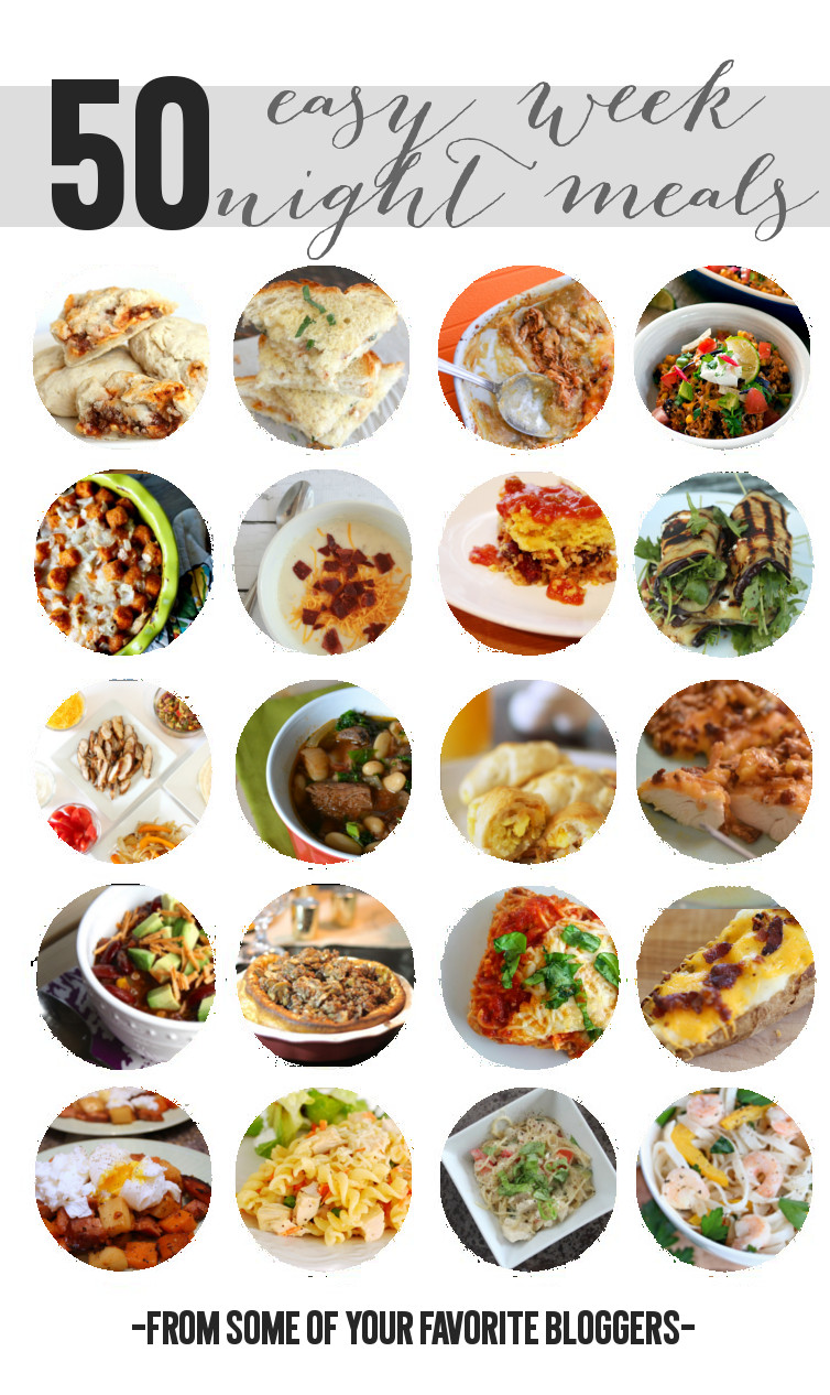 50 Easy Weeknight Meals make dinnertime easy! Perfect for families with busy schedules!