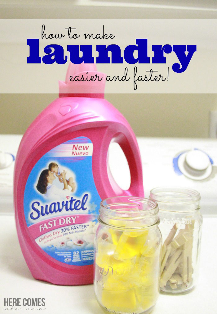 Simple tips to make laundry easier and faster! #FastDrySaveTime #shop