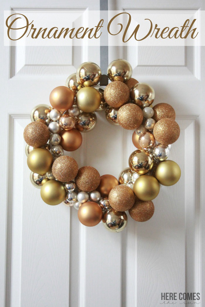 This ornament wreath is GORGEOUS and very easy to make!