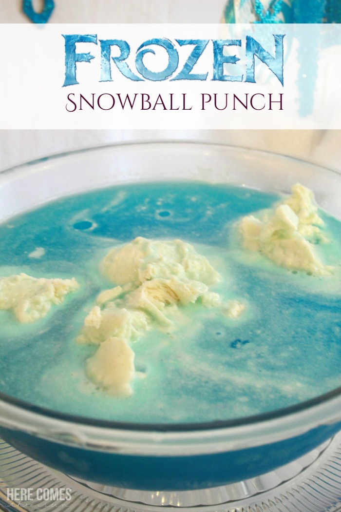 Frozen Snowball Punch! So easy to make and such a cute idea for a party!