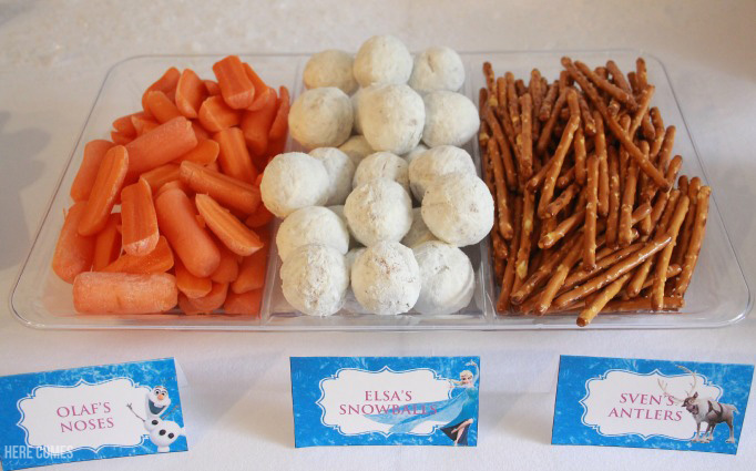 Cute ideas for Frozen Party food