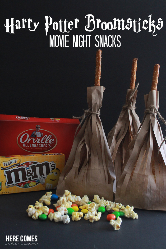 Make these adorable movie night snacks for your next Harry Potter viewing! #MovieNight4Less #ad