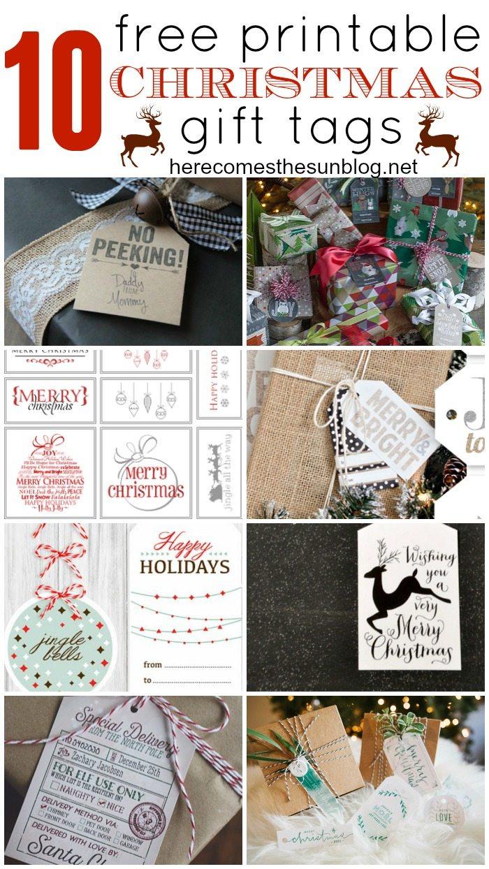 Gorgeous FREE printable Christmas gift tags!