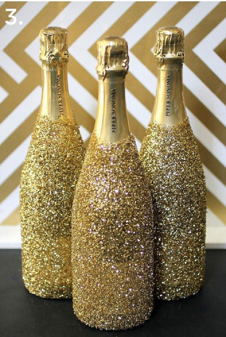 Бутылки шампанского на новый год своими руками мастер класс