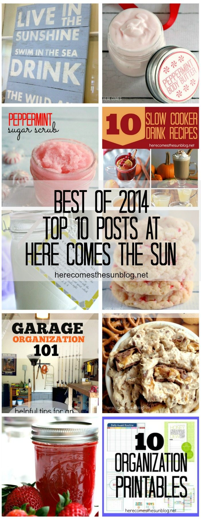Top 10 most popular posts of 2014 at herecomesthesunblog.net!