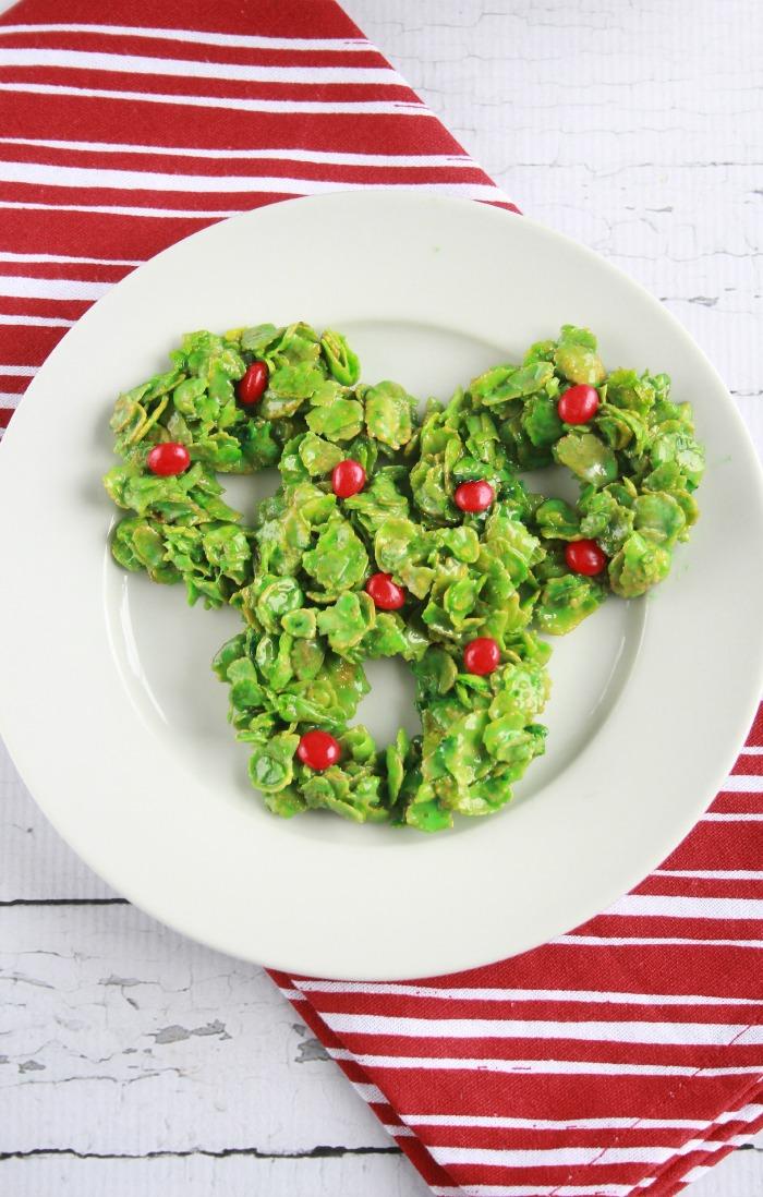 Cornflake Christmas Wreath Cookies