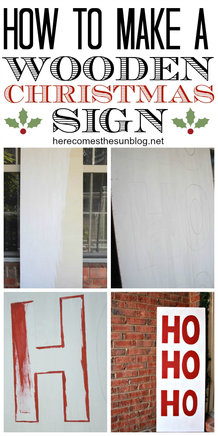 Create this statement piece Wooden Christmas Sign with @decoart paint!