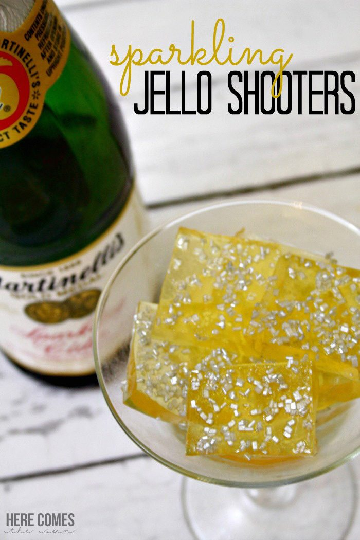 Sparkling jello shooters are perfect for your New Year's Eve celebration!