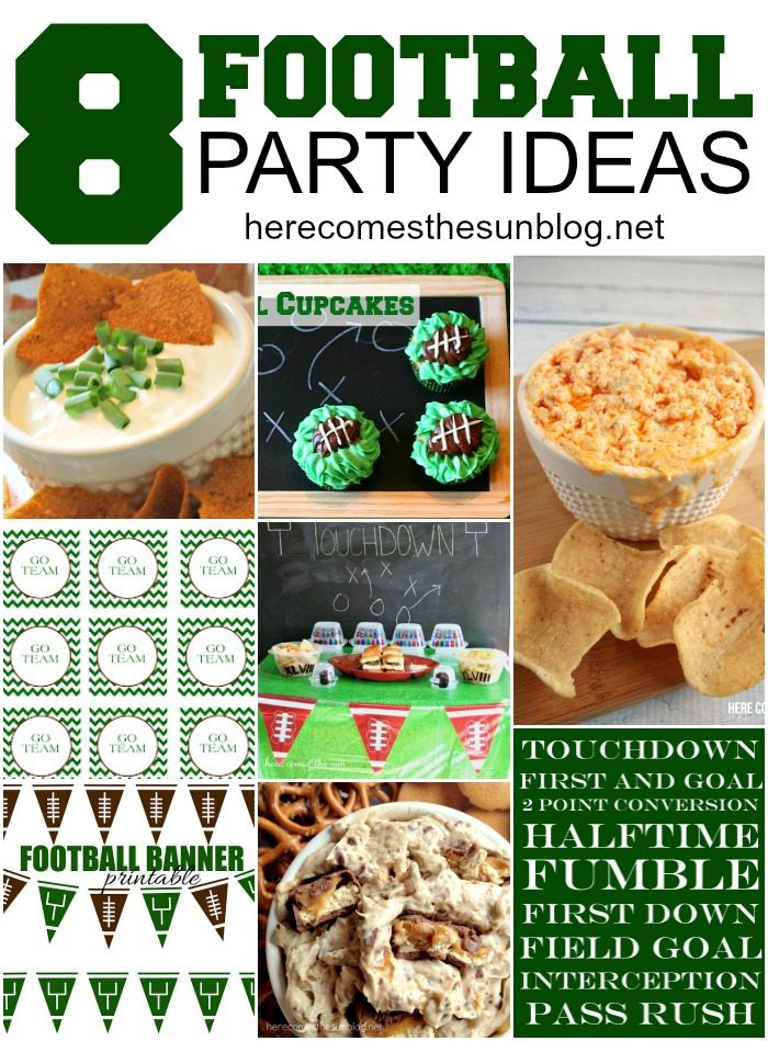 Great roundup of Football Party Ideas! Use these printables, food recipes and decorating ideas to host an amazing Super Bowl party!