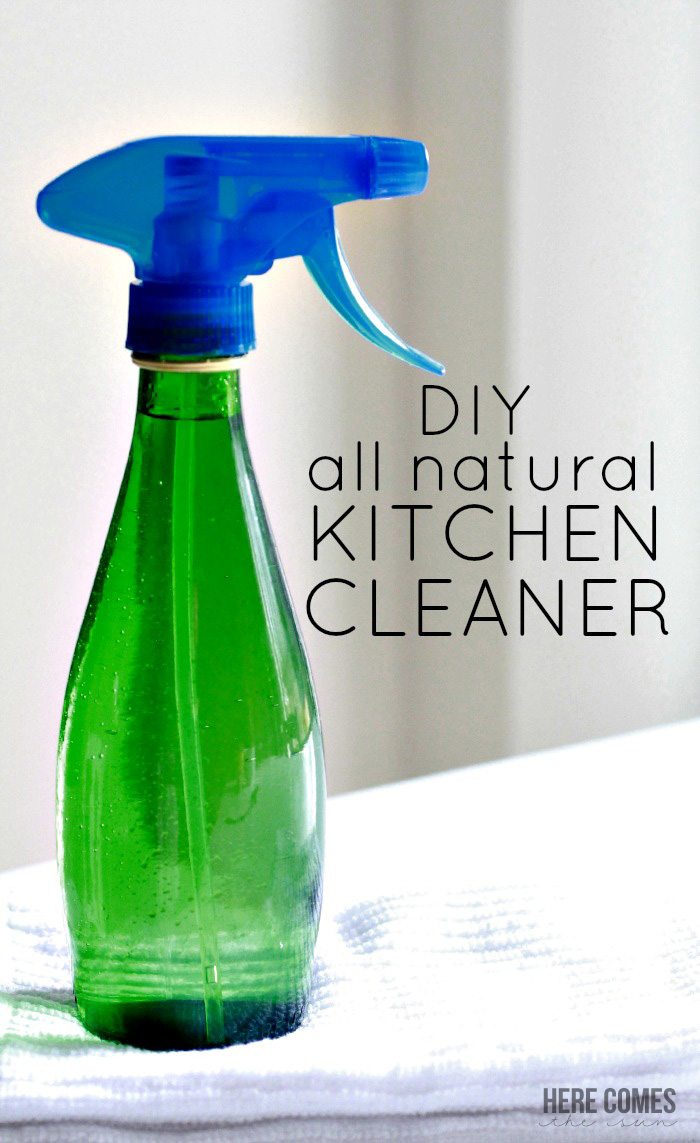 Clean your home without toxic chemical with this DIY All Natural Kitchen Cleaner!