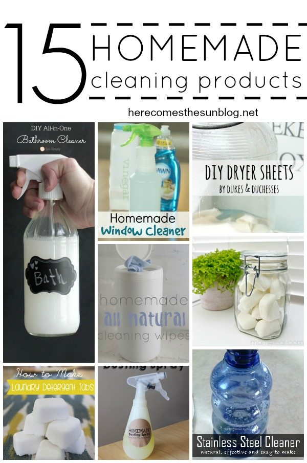 15 Homemade Cleaning Products