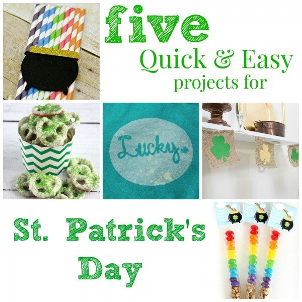five quick and easy projects for St. Patricks Day Collage