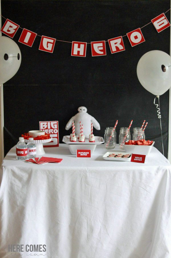 Easy and fun Big Hero 6 Party Ideas! #BigHero6Release #ad