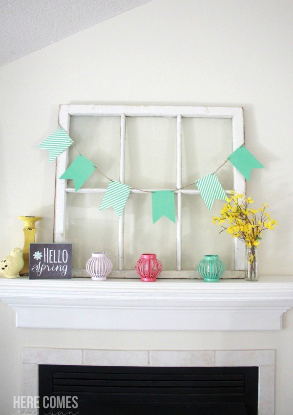 How to create a beautiful Spring mantel!