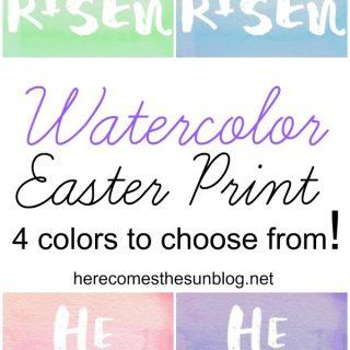 Watercolor Easter Print