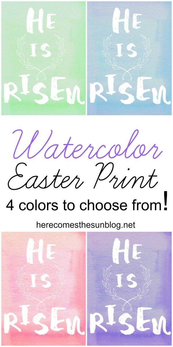 Beautiful Watercolor Easter Print! Free printable.