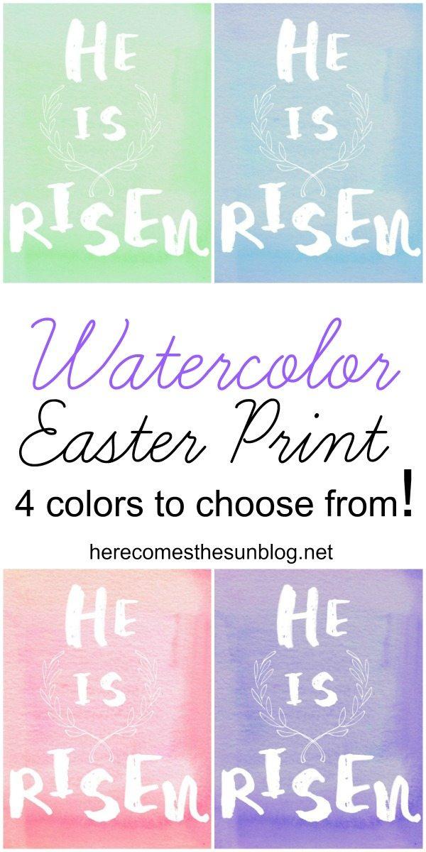 Beautiful Watercolor Easter Print! Free printable.